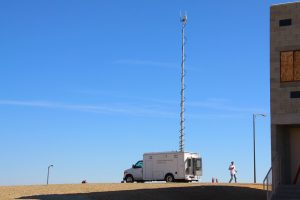 The Mobile RF Lab deployed at Camp Robert, CA